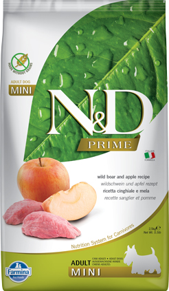 N&D Prime Dog Boar & Apple Adult Mini